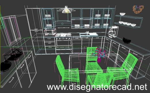 Dwg 3d free model download file autocad for Arredi interni dwg