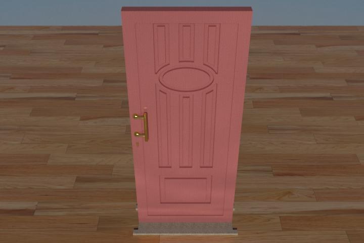 Modello Porta door 3d dwg download model